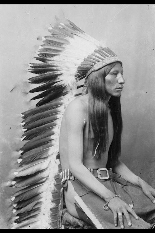 Arapaho man, Wyoming, 1898.