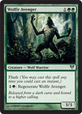 Magic: the Gathering - Wolfir Avenger (205) - Avacyn Restored by Wizards of the Coast. $0.65. A single individual card from the Magic: the Gathering (MTG) trading and collectible card game (TCG/CCG).. This is of Uncommon rarity.. From the Avacyn Restored set.. Magic: the Gathering is a collectible card game created by Richard Garfield. In Magic, you play the role of a planeswalker who fights other planeswalkers for glory, knowledge, and conquest. Your deck of cards represents ...
