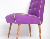 Purple & Green Feature Chair