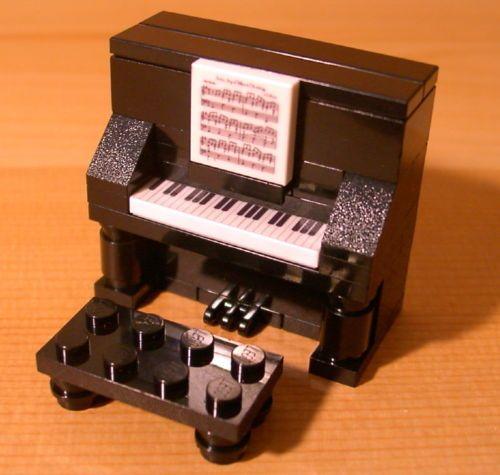 Custom Fun Black Piano Lego Gift Set for Town City Train Music Teacher Musician | eBay