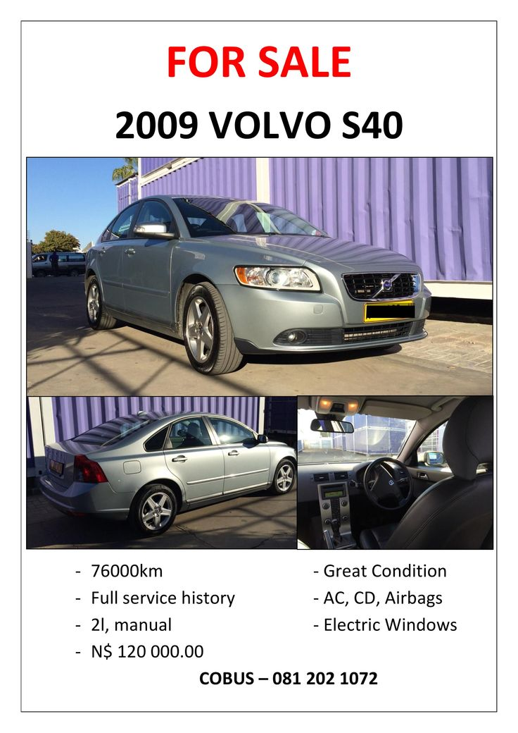 2009 VOLVO S40 - FOR SALE