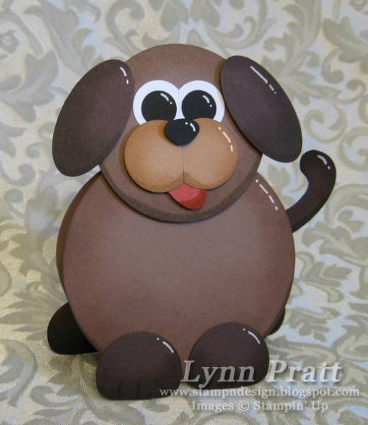 Paper Punch - Dog: Art Dogs, Cards Ideas, Barns Animal, Paper Punch, Cards Punch Art, Circles Punch, Punch Cards, Animal Addition, Animal Cards