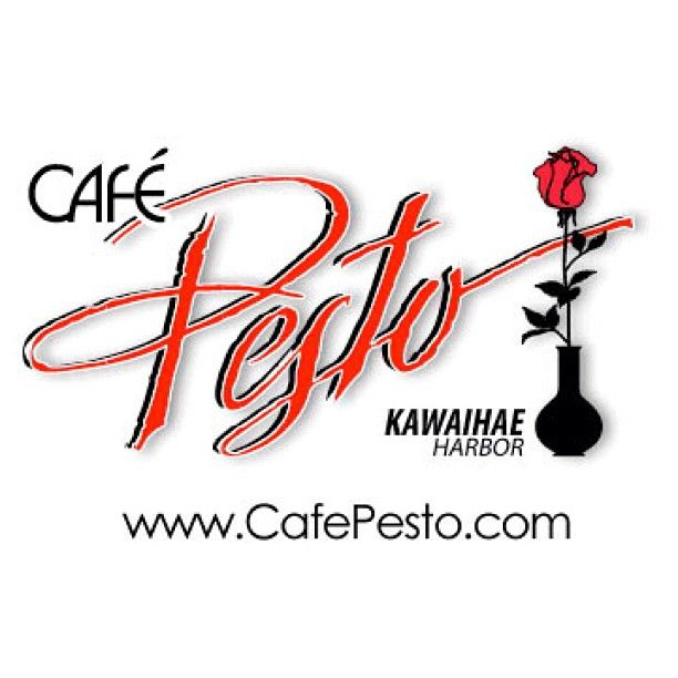 CAFÉ PESTO, KAWAIHAE — We love the food at this restaurant near Kawaihae Harbor in north Kohala (there's one in Hilo, too, but it's not quite as good). They have more than the average vegetarian selection (pizza, calzones, pasta, salads).  We like everything we've tried, especially the lilikoʻi juice & their crab cakes. We also love their fabulous Coconut Tarts & Ganâche for dessert.  —❀HPVR❀