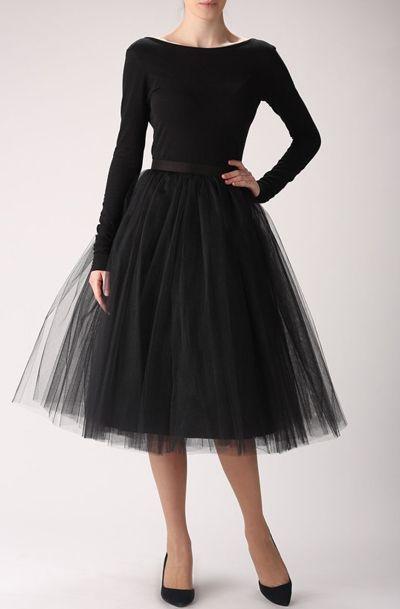 Black tulle skirt, Handmade long skirt, Handmade tutu skirt