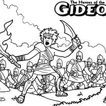 gideon bible story coloring pages - Gideon Bible Story Coloring Pages