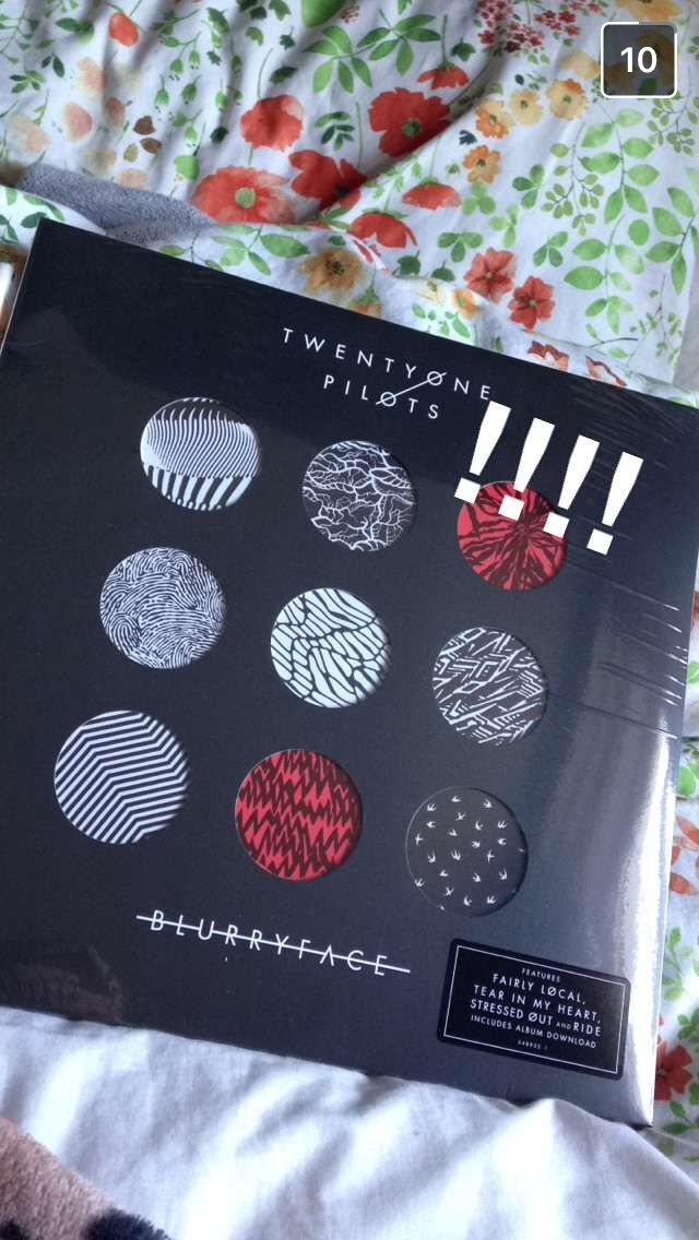 I bought L the blurryface vinyl✨