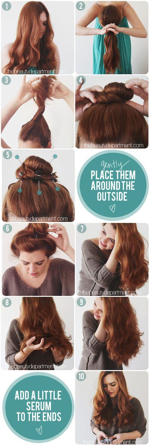how to put your hair up without pressure