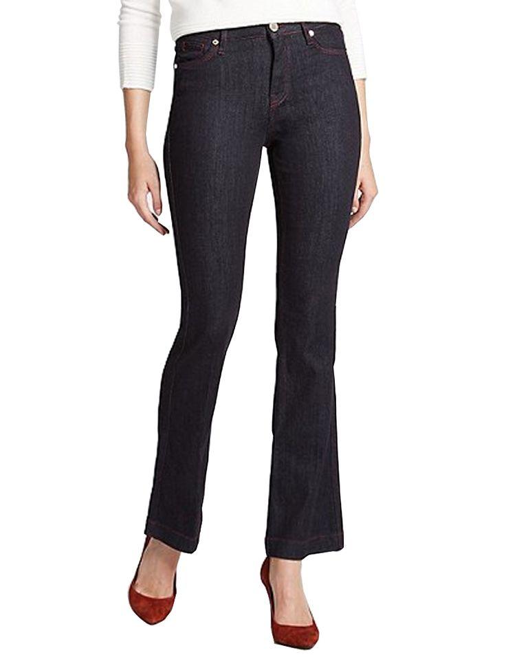 MARKS & SPENCER PER UNA Kick Flare Contrasting Stitch Jeans T57/6912.  UK14 Regular EUR42 Regular  MRRP: £39.50GBP - AVI Price: £25.00GBP