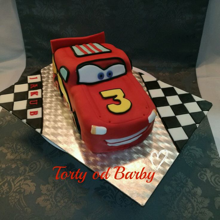 Car cake,  McQueen cake, torta McQueen