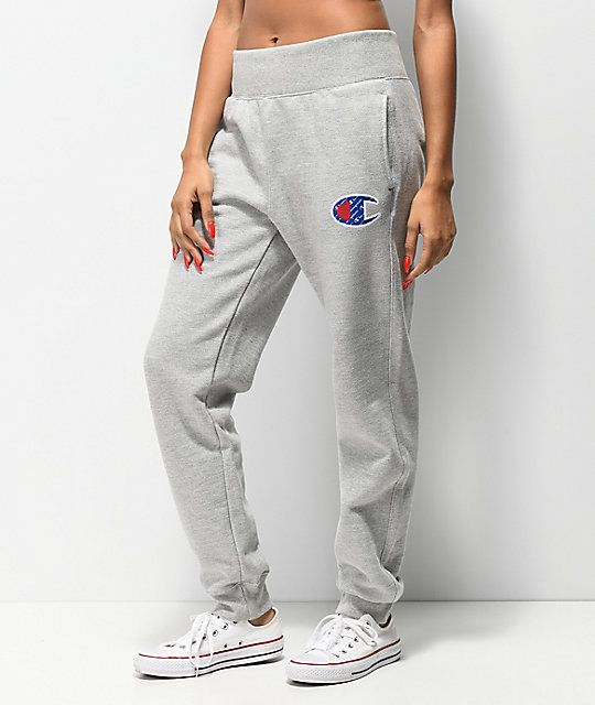 002cdc1065a0 Womens Clothes Online Plus Size. Champion Reverse Weave Sub C Oxford Grey  Jogger Sweatpants
