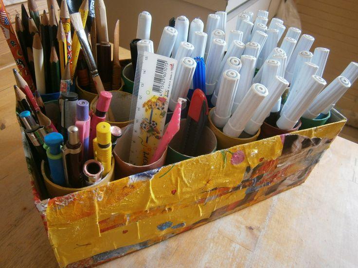How to organize your school suplies - diy