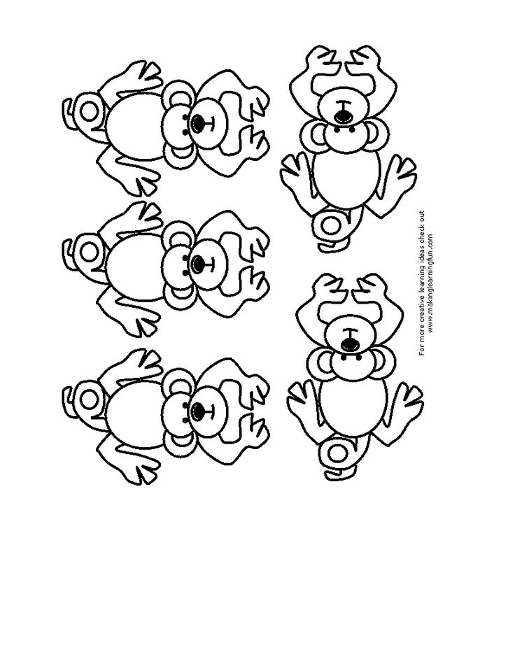 five little monkeys for puppet stick