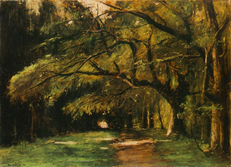 Park in Colpach 1886 painting