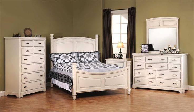 American Made Johnson White Bedroom Furniture Set in Solid Maple Wood. #MadeinUSA