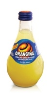 Orangina, made in France, is a refreshing carbonated citrus beverage made from orange, lemon, mandarin and grapefruit juice.