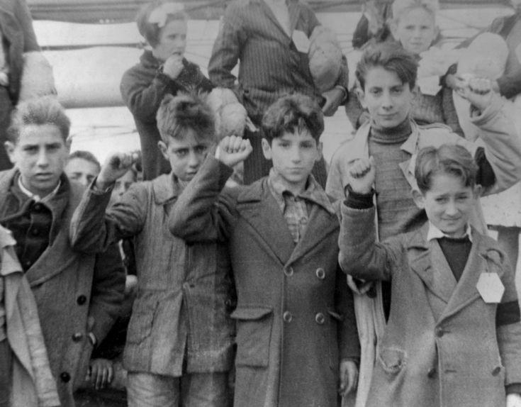 Niños republicanos refugiados durante la guerra civil española