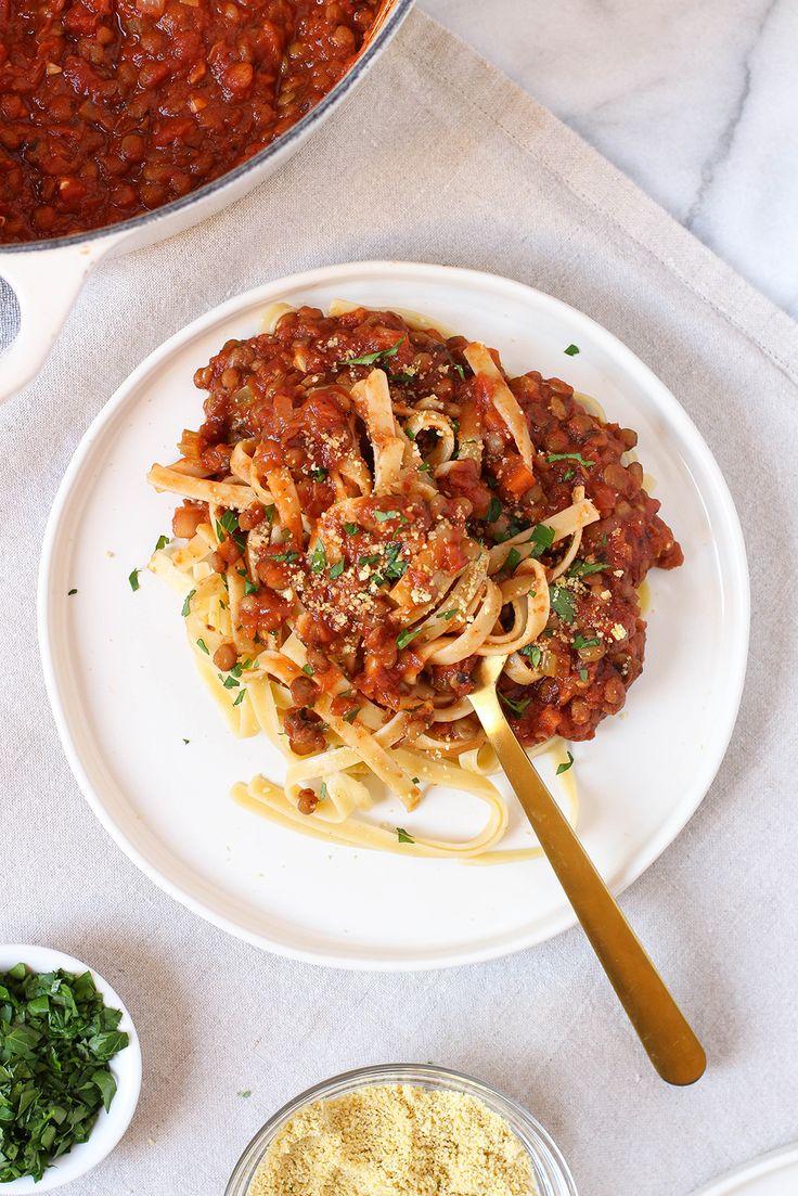 Vegan Weeknight Lentil Bolognese