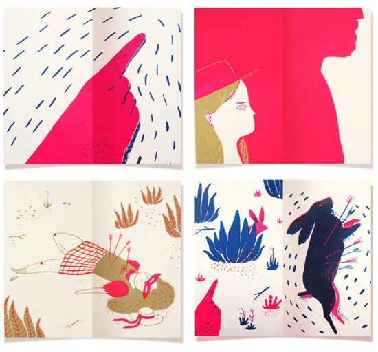 Lucille Michieli – Screen printed illustrations - www.imaginativebloom.com