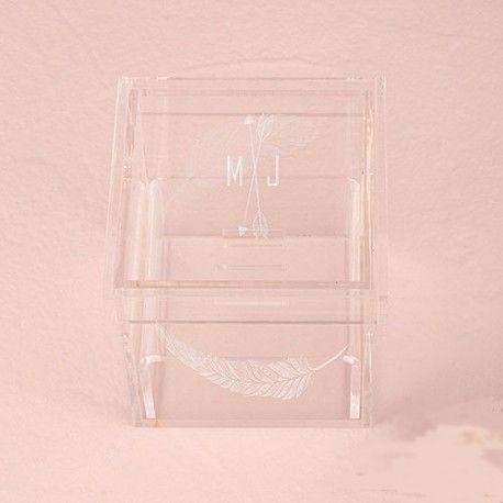 Le porte-alliances boite transparente logo feuilles