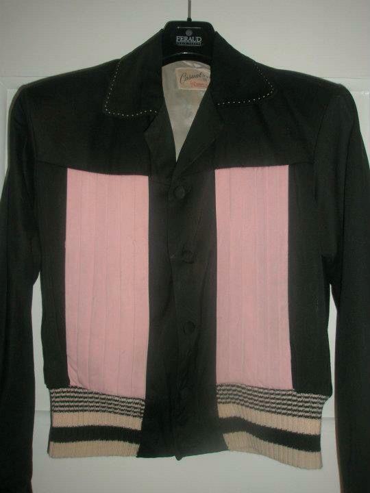 50s gabardine jacket - label Campus Casuals