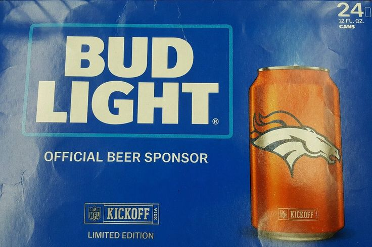 2016 Nfl Bud Light - Denver Brocos ( Sealed 24 Pack) Kickoff Can