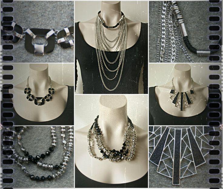 Zwart met zilverkleur - Een mooie stijlvolle combinatie voor tijdloze #sieraden.