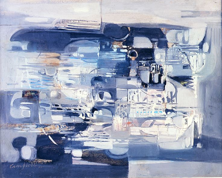 Play of Shapes (1962), George Campbell, Oil on board, on loan from the Waterford Municipal Art Collection. Selected by Cory Barry.