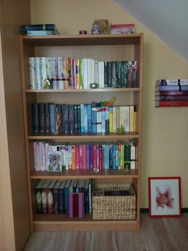 Mein Bücherregal zuhause.Voller schönsten Geschichten :Fantasy ,Jugendbücher ,Liebesromane... Regal:Billy v Ikea