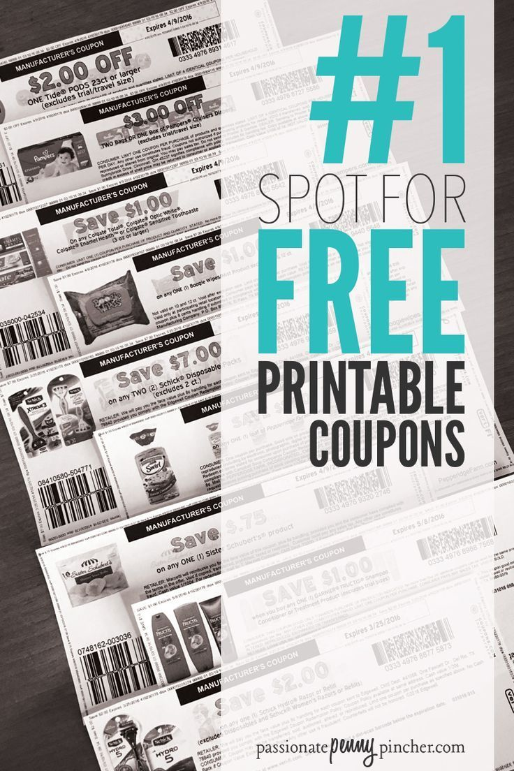 All the best printable coupons updated every day, all with one quick click!