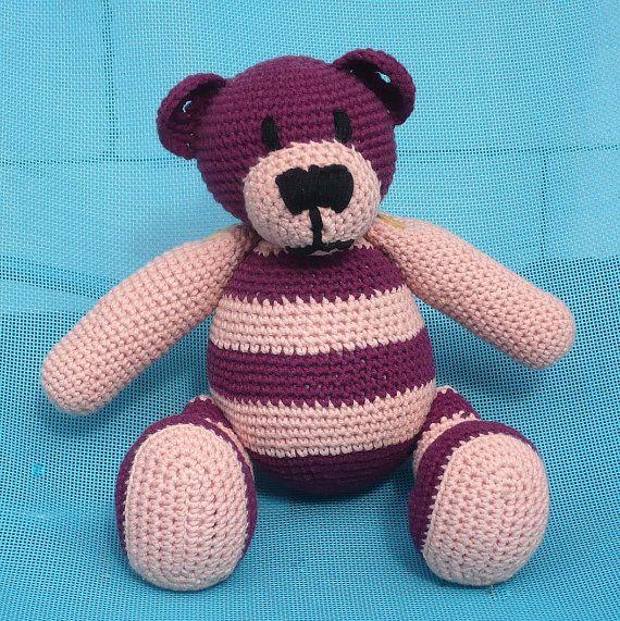 Crochet Teddy Bear Purpur