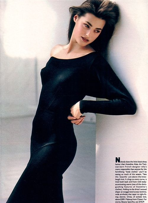 """The Man Who Brought Back The Body"", Mademoiselle US, October 1985  Photographer : Arthur Elgort  Model : Yasmin Le Bon"