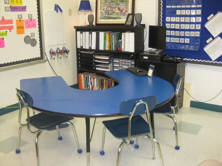 With The Shelves Under My Windows And Tzoid Table Behind Horseshoe I Can Make No Teacher Desk Work