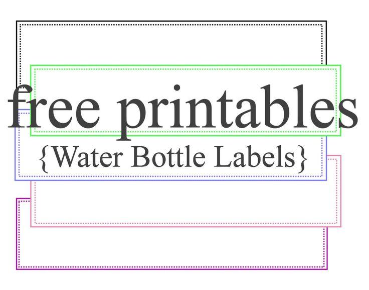 diy water bottle label template