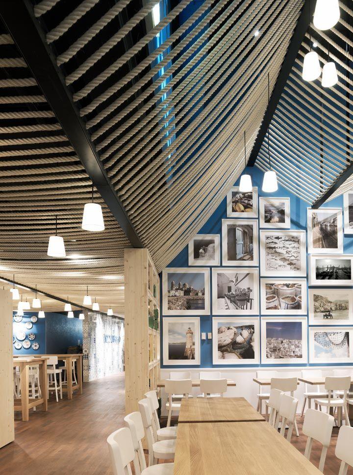 Azzurro restaurant in Zurich by Andrin Schweizer Company #hotelinteriordesigns