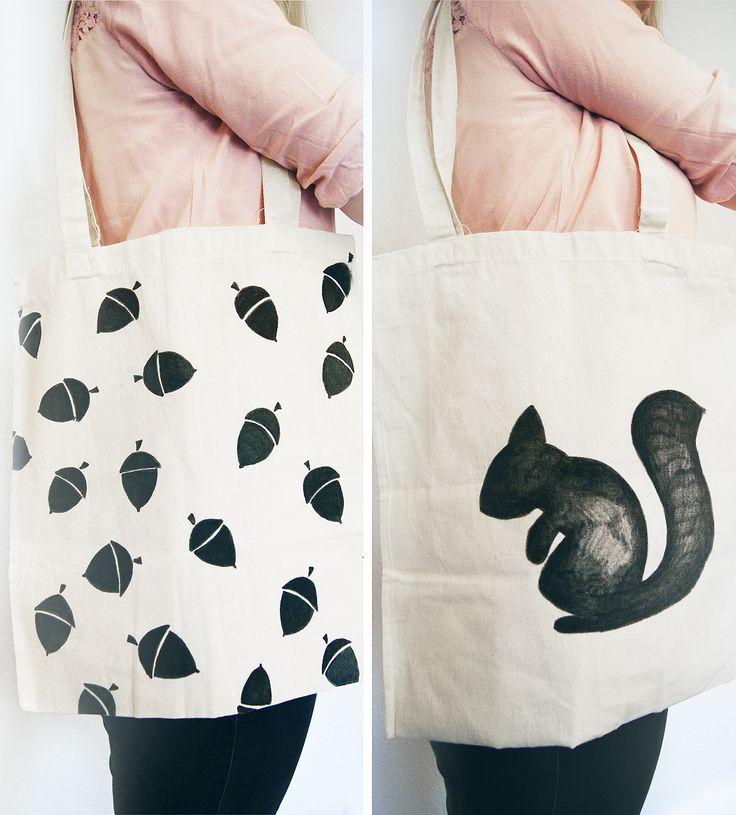 Selbst designter Jutebeutel im skandinavischen Design ♥