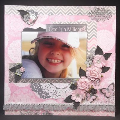 Couture Creations: One in a Million by Tracey Cooley   #couturecreations #doilydies #embossingfolders #scrapbooking
