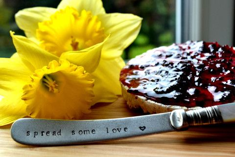 Pretty Little Silver - 'Spread Some Love' Butter Knife £9 www.prettylittlesilver.co.uk