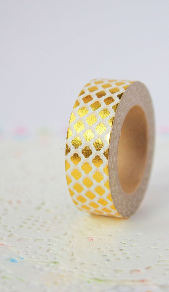 Foil Washi Tape  Gold Washi Tape  Gift Wrapping  by pingosdoceu