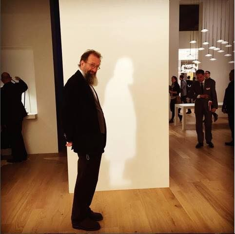 The great architect and designer Michele De Lucchi who designed our booth ! Come and visit us at Light+Building Hall 3.1 | Stand E51. #LB16