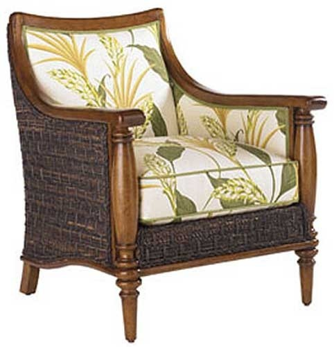 Lx 1695 11 Tommy Bahama Island Estate Agave Chair In Plain Fabric For Living Room Dream Home