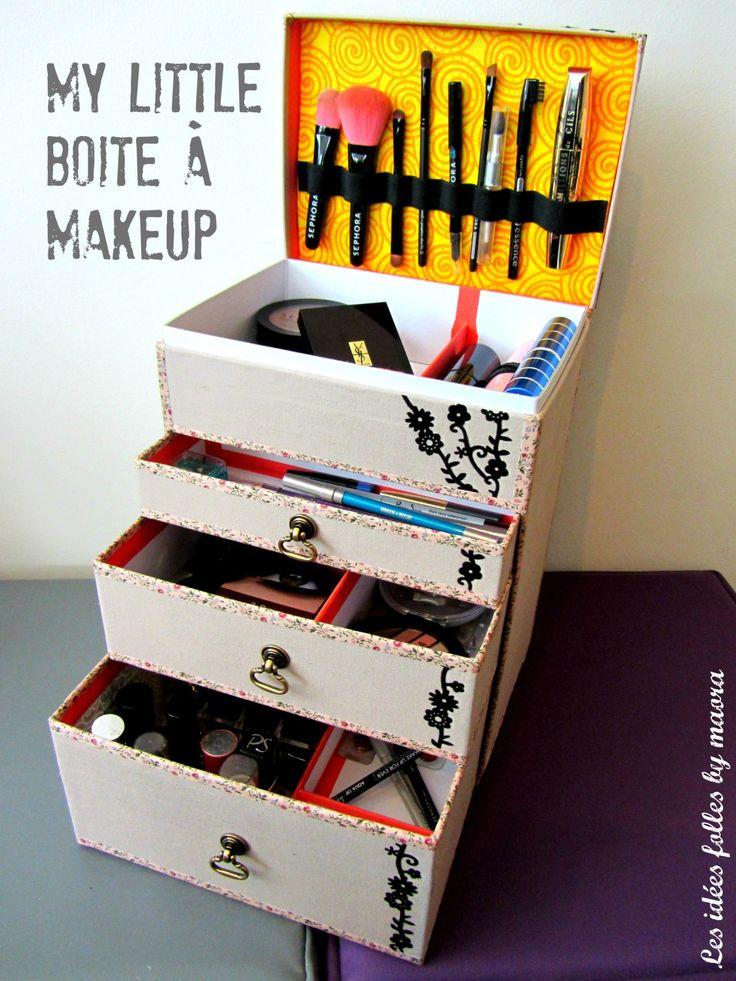 les 25 meilleures id es de la cat gorie boite de rangement maquillage sur pinterest boite. Black Bedroom Furniture Sets. Home Design Ideas
