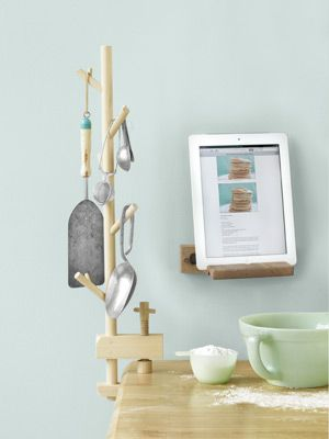 How to Decorate Small Spaces - Decorating for Small Spaces - Country Living:  iPad easel!
