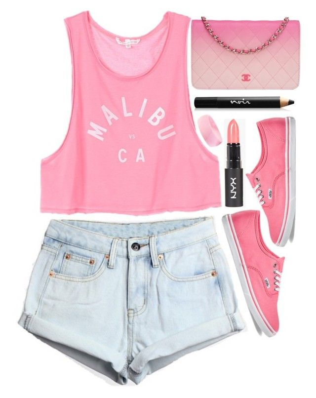 """""""Back It Up"""" by tinasxx ❤ liked on Polyvore featuring WithChic, Vans, Noir Cosmetics, Chanel, women's clothing, women's fashion, women, female, woman and misses"""