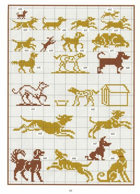 Gallery.ru / Photo # 2 - Repertoire des motifs - Orlanda dog motif                                                                                                                                                                                 Plus