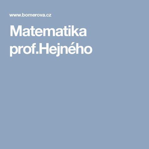Matematika prof.Hejného