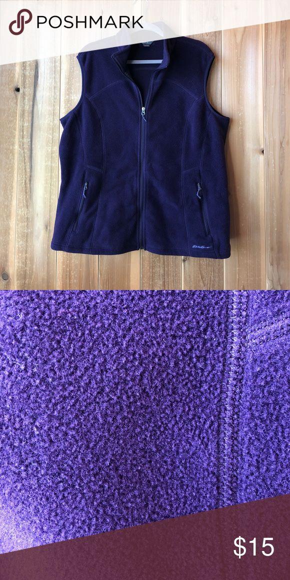Purple Vest This is a dark purple or egg plant fleece vest from Eddie Bauer. It was rarely worn! Eddie Bauer Jackets & Coats Vests