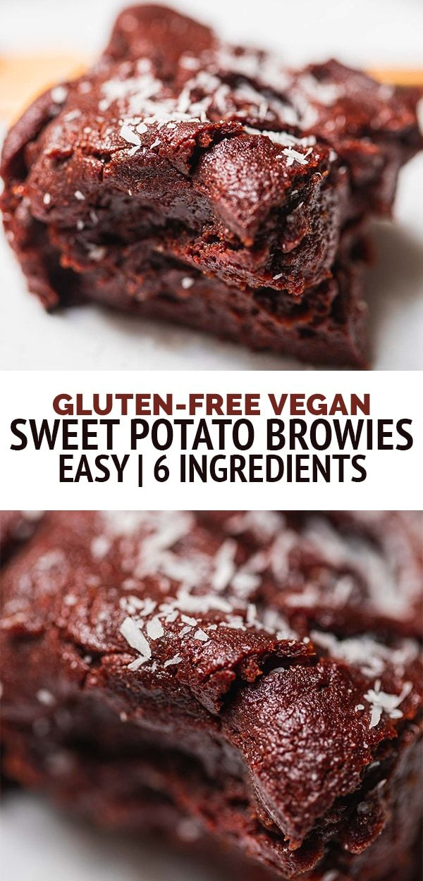 Vegan Sweet Potato Brownies Gluten Free Earth Of Maria Recipe In 2020 Vegan Dessert Recipes Easy Vegan Sweet Potato Oil Free Vegan Recipes