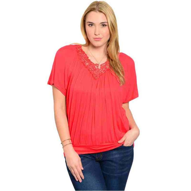 CORAL PLUS SIZE TOP SALE: $27.01 http://www.curvyclothing.com.au/index.php?route=product/product&path=59_61&product_id=5579