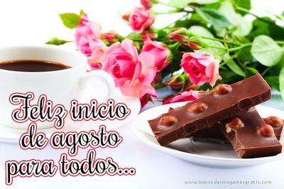 BANCO DE IMAGENES: Bienvenido Agosto !! Mes de la Paz - Mensajes con flores para compartir en redes sociales