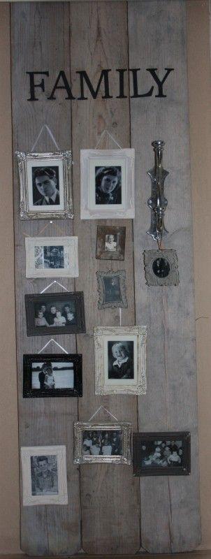 Fotowand van steigerhout